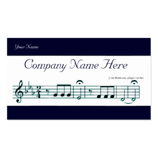 Beethoven Symphony No. 5 (Blue) Double-Sided Standard Business Cards (Pack Of 100)
