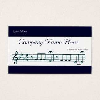 Beethoven Symphony No. 5 (Blue) Business Card