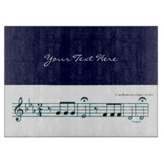 Beethoven Symphony No. 5 (Blue) Cutting Board