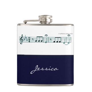Beethoven Symphony No. 5 (Blue) Flask
