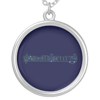 Beethoven Symphony No. 5 (blue) Personalized Necklace