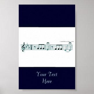 Beethoven Symphony No. 5 (Blue) Poster
