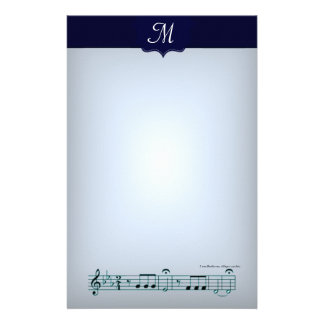 Beethoven Symphony No. 5 (Blue) Stationery