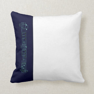 Beethoven Symphony No. 5 (Blue) Throw Pillow