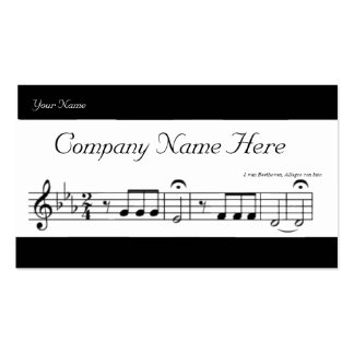 Beethoven Symphony No. 5 Double-Sided Standard Business Cards (Pack Of 100)