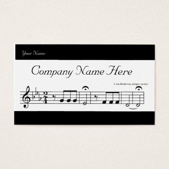 Beethoven Symphony No. 5 Business Card