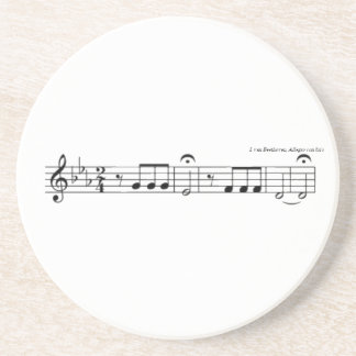 Beethoven Symphony No. 5 Coster Sandstone Coaster