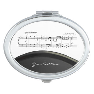 Beethoven Symphony No. 9 (Black) Compact Mirror