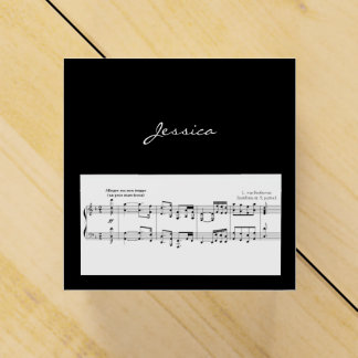 Beethoven Symphony No. 9 (Black) Favor Box