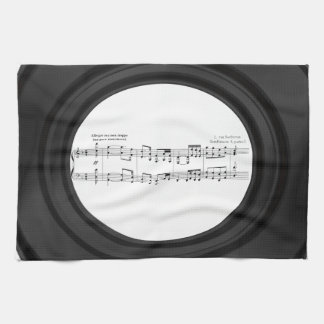 Beethoven Symphony No. 9 (Black) Hand Towels