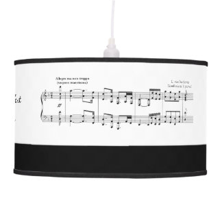 Beethoven Symphony No. 9 (Black) Hanging Lamp