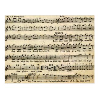Beethoven Symphony No. 9 Postcard