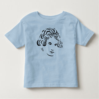 Beethoven T-Shirt for Toddlers -- Bl Pk Wh Gr & Y