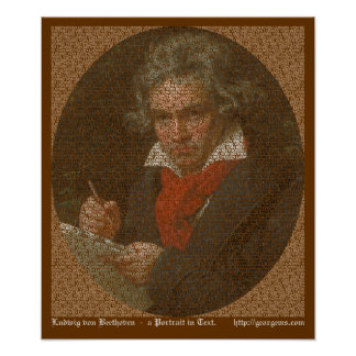 Beethoven text portrait poster