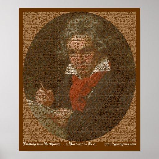 Beethoven text portrait print