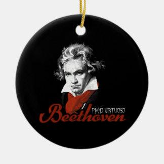 Beethoven virtuous piano black ceramic ornament