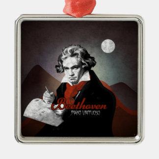 Beethoven virtuous piano black metal ornament