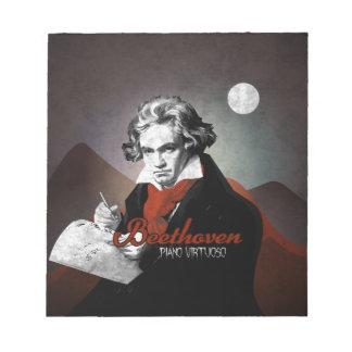 Beethoven virtuous piano black notepad