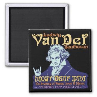 Beethoven - Von Def 2 Inch Square Magnet