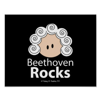 BeethovenRocks Beethoven Poster