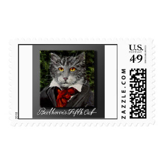 Beethoven's Fifth Cat Stamps