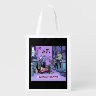 Beethoven's Half Pint Funny Beethoven Reusable Bag