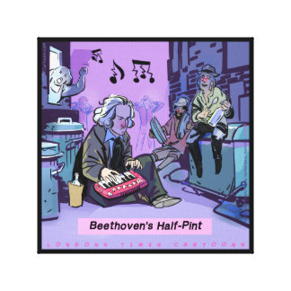 Beethoven's Half Pint Funny Canvas Print