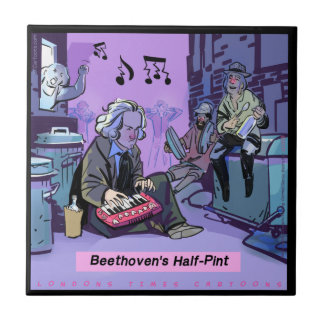 Beethoven's Half Pint Funny Ceramic Tile