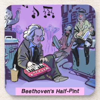 Beethoven's Half Pint Funny Gift Beverage Coaster