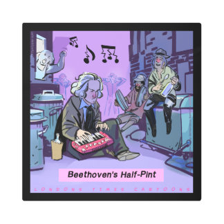 Beethoven's Half Pint Funny Metal Art