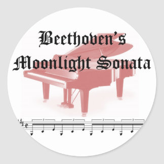beethovens moonlight sonata  gifts classic round sticker