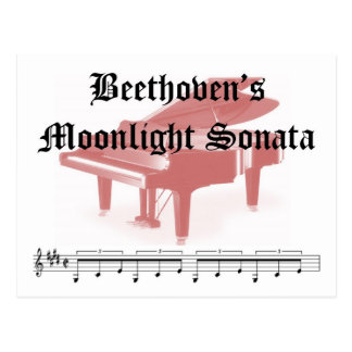 beethovens moonlight sonata  gifts postcard