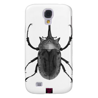 Beetle Bug Black and White Drawing Samsung Galaxy S4 Cover