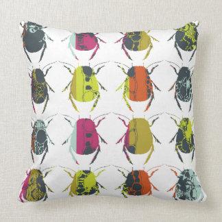 Beetle / Bug Colourful Print Cushion Throw Pillows