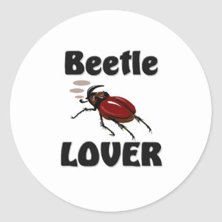 Beetle Lover Round Stickers