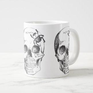 Beetle on a Skull Giant Coffee Mug
