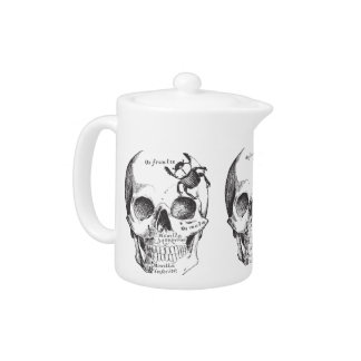 Beetle on a Skull Teapot