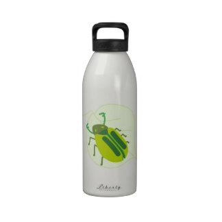 Beetle On Leaf Drinking Bottle