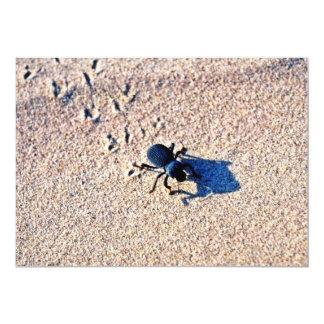 """Beetle On The Dunes 5"""" X 7"""" Invitation Card"""