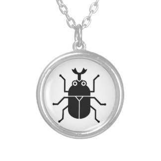 Beetle Silver Plated Necklace