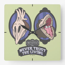 """Beetlejuice   Maitlands """"Never Trust The Living"""" Square Wall Clock"""