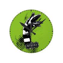 Beetlejuice   Sandworm Illustration Round Clock