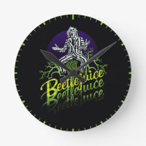 Beetlejuice   Sitting on a Tombstone Round Clock