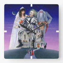 Beetlejuice   Theatrical Poster Square Wall Clock