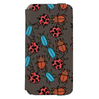 Beetles and Ladybug pattern bug lover iPhone 6/6s Wallet Case