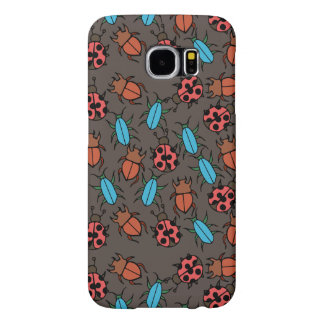 Beetles and Ladybug pattern bug lover Samsung Galaxy S6 Case