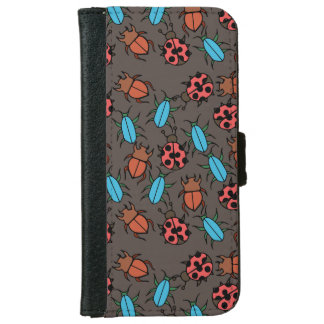 Beetles and Ladybug pattern bug lover Wallet Phone Case For iPhone 6/6s
