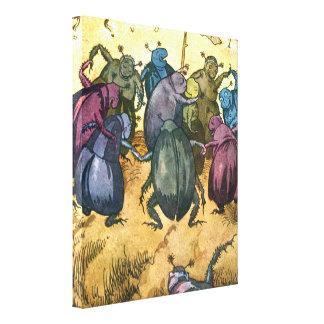Beetles Celebrating Midsummer Canvas Prints