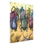 Beetles Celebrating Midsummer Canvas Print