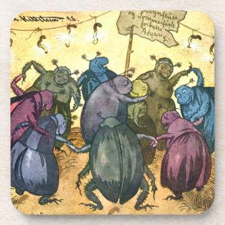 Beetles Celebrating Midsummer Coaster
